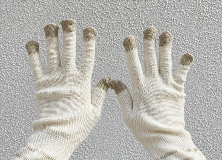 指先を守って老け手を防ぐ5本指タイプ